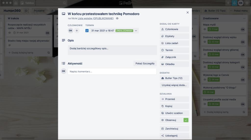 Trello - aplikacja do zarządzania projektami i celami